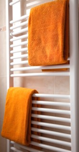 Heating Worcester: Contemporary modern ladder-style bathroom central heating radiator